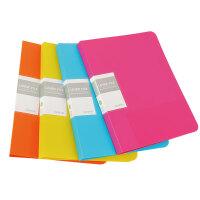 HOMTAI鸿泰文具多彩文件夹单强夹+插袋 颜色随机当当自营