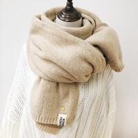 围巾女秋冬季学生少女心小清新针织毛线围脖