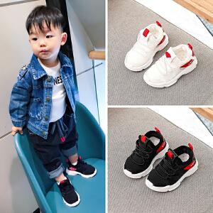 宝宝鞋运动鞋子男童1-3岁婴儿软底学步鞋春秋女小童防滑网鞋0一2