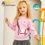 【3件3折券后预估价:64.56元】暇步士童装女童卫衣秋装新款儿童套头上衣小童宝宝潮时尚卫衣