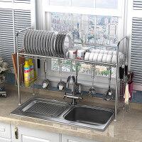 304不锈钢碗架水槽沥水架厨房置物架用品用具收纳架碗碟架ik2