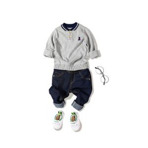 全织时代童装男童毛衣小童春秋2018新款条纹毛衫男宝宝儿童针织衫 全织时代 儿童-男童-毛衣