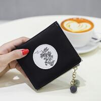 钱包女短款薄迷你韩版2折印花可爱卡通个性小巧学生多功能零钱夹