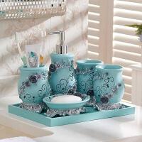 居家浴室用品套装简约卫浴五件套欧式洗漱套装卫生间浴室用品漱口杯套装刷牙杯