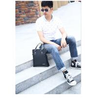 时尚商务男士韩版单肩手提包 牛津布男包 防水帆布休闲斜挎包包