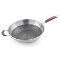 304不锈钢炒锅家用炒菜锅具电磁炉燃气灶适用