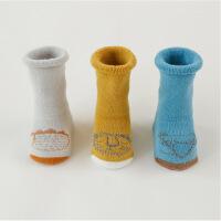 新生婴儿袜子秋冬加厚宝宝中长筒袜纯棉保暖男女童地板袜0-1-3岁