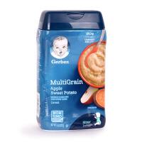 美国Gerber嘉宝苹果甜薯混合谷物米粉/水果味婴幼儿米糊食品 227g