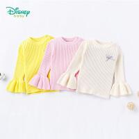 迪士尼Disney童装 宝宝开衫新款纯棉秋装喇叭袖女童卫衣休闲长袖针织衫183S1028