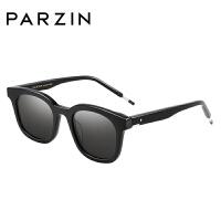 帕森2018新品女士太阳镜 男士复古板材方框尼龙镜片潮墨镜 7714