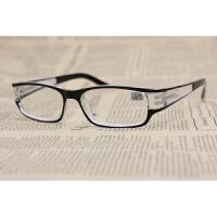 老花镜男款方框阅读眼镜女款qg 黑色+100