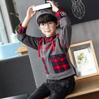 童装男童运动卫衣春秋装长袖连帽体恤儿童中大童套头上衣