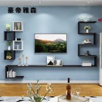 烤漆客厅电视背景墙装饰架柜墙上置物架壁挂机顶盒架卧室搁板隔板