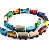 木制托马斯小火车头套装磁性轨道木质儿童滑行玩具车大号3岁抖音