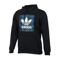 Adidas阿迪达斯 男装 三叶草运动休闲连帽卫衣套头衫 DU8370