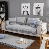 ???北欧沙发垫四季通用布艺客厅组合1+2+3套装防滑现代简约棉麻坐垫