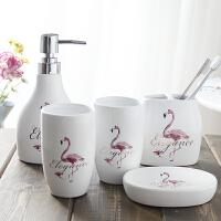 洗漱杯套装漱口杯套件陶瓷卫浴五六件套刷牙杯浴室用品牙刷杯家用