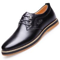波图蕾斯新款男士休闲鞋子时尚英伦潮流系带休闲皮鞋舒适运动板鞋