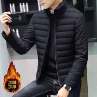 男士韩版外套冬季新款修身加厚加绒青年棉衣短款休闲棉袄男装