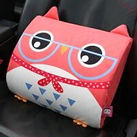 汽车腰靠垫卡通可爱记忆棉护腰垫创意车用腰枕车内饰品