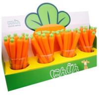 胡萝卜笔 卡通可爱 中性笔 胡萝卜笔