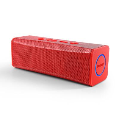 shockwave S20 蓝牙音箱 便携式双喇叭蓝牙数码音箱 可接听电话无线蓝牙音响 红色双声道立体高清免提通话智能语音提示插卡