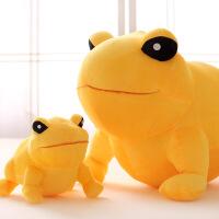 大金蟾公仔蟾蜍金蛤蟆毛绒玩具大号摆件创意礼品礼物 金黄色 55厘米 1.2kg