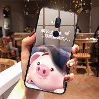 优品网红诺基亚X7手机壳套女款NokiaX7钢化玻璃壳TA-1131全包硅胶软猪小屁同款可爱情侣镜面