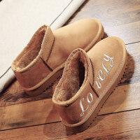 冬季学生韩版百搭雪地靴女短筒短靴加绒保暖棉鞋女磨砂潮 驼色