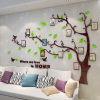 个性3d亚克力立体墙贴客厅卧室美容院电视背景墙壁装饰品贴画 011浅绿叶 咖啡树树在右边方向 超