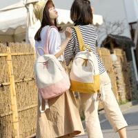 书包女韩版原宿 高中学生背包帆布休闲双肩包包