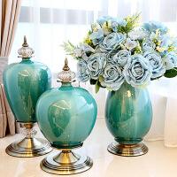 家居陶瓷台面花瓶摆件欧式客厅软装饰品餐桌插花工艺摆设直供