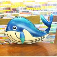 鲸鱼零钱包零钱包皮零钱包动物包个性零钱包休闲零钱包可爱