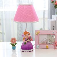 温馨浪漫婚庆台灯创意相亲相爱玫瑰花布艺PC灯罩床头灯