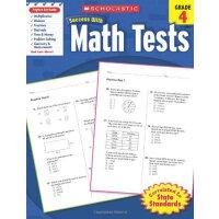 现货英文原版 Scholastic Success with Math Tests, Grade 4 四年级 数学测试