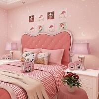 家居生活用品星空壁纸夜光荧光银河墙纸粉色公主粉环保带胶无纺布卧室 仅墙纸