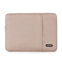 苹果三星笔记本电脑包15.6/14寸内胆包13寸男女12 11保护套 卡其色(有侧袋) 11寸