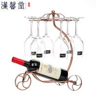 汉馨堂 红酒架 欧式酒瓶架红酒架摆件倒挂架子家用高脚杯架悬挂葡萄酒架红酒杯架子
