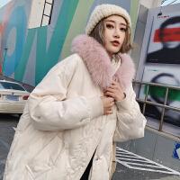羽绒棉衣女中长款宽松冬季新款韩版加厚外套棉袄潮