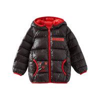 【1件5折价:129.5,26日0点可叠券】moomoo童装男童棉服冬季中大童时尚连帽科技绒外套