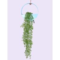 墙面装饰壁挂花盆创意墙上仿真绿植挂件北欧墙壁装饰品家居壁饰 浅蓝色 +1支情人泪