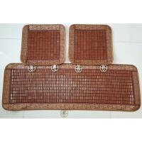 汽车坐垫单片夏季通用无靠背竹片三件套单件竹块麻将凉席防滑座垫 咖啡色 三件套