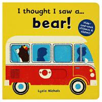 原装正版 英语绘本机关书 I thought I saw a bear 游戏互动操作纸板书 3-6岁