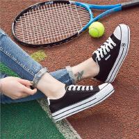 【支持礼品卡支付】2018夏季帆布鞋女韩版低帮休闲鞋 学生厚底布鞋女鞋小白鞋 KW-J213