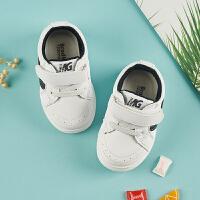 宝宝学步鞋女1-3岁春秋婴儿童鞋软底防滑运动鞋机能鞋男童小白鞋SN7596