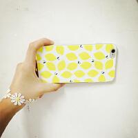 小清新简约柠檬片手机壳iphone6 plus超薄保护套5.5软壳4.7壳