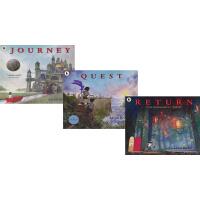 不可思议的旅程三部曲 英文原版绘本 Journey Quest Return 3册 凯迪克奖 儿童启蒙想象力图画故事书