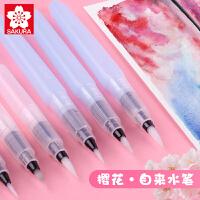 日本樱花自来水笔套装初学者大容量软头储水毛笔单支水彩笔颜料水粉笔美术水彩画笔专用丙烯画笔油画笔画笔刷