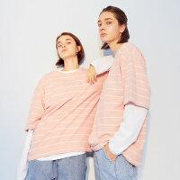【1件5折到手价:87.5】美特斯邦威短袖T恤女2019夏季新款韩版潮流反字母印花女士T恤