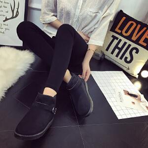 女式 雪地靴女冬季新款皮带扣保暖雪地靴